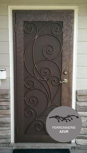 Fabrication d'une porte grille en fer forgé à Carqueiranne occasion