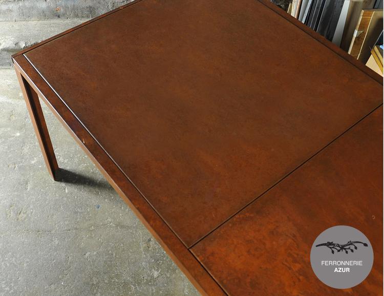 Fabrication d'une table basse en acier Corten à Bandol occasion