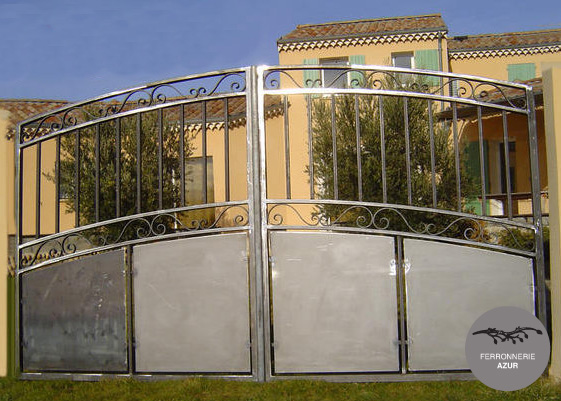 Fabrication d'un portail en fer à Toulon occasion