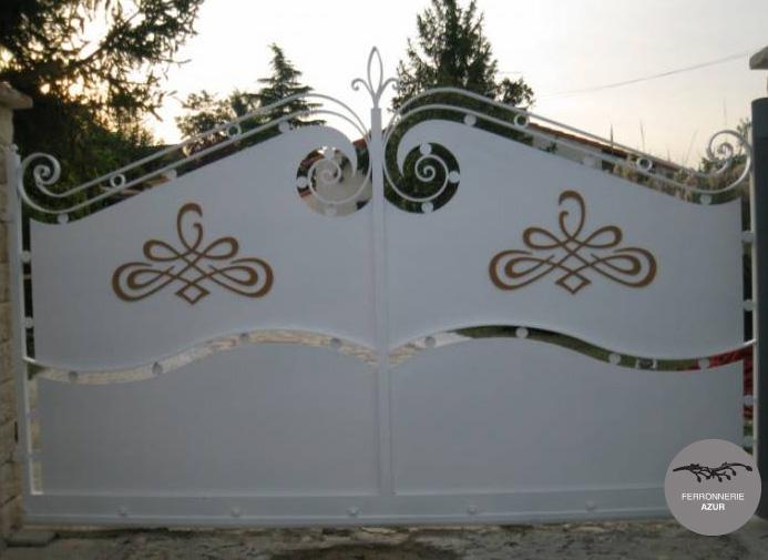 Fabrication d'un portail avec portillon à Saint Tropez occasion