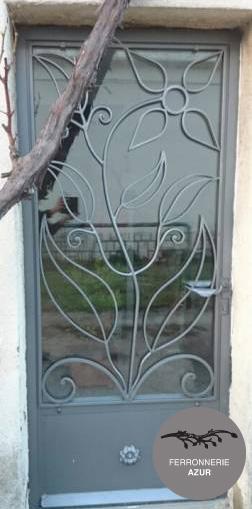 Fabrication d'une porte d'entrée en fer à Saint Raphaël – Var occasion