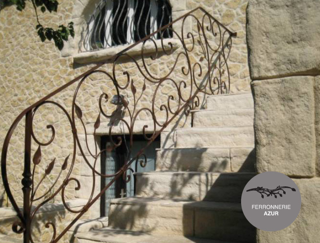 Fabrication d'une rampe d'escalier extérieur à Saint Tropez occasion