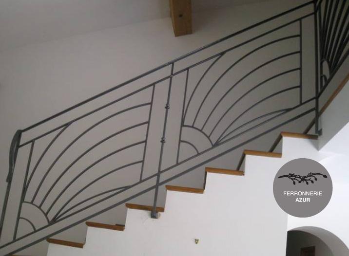 Favori Rampe en fer forgé pour escalier Saint Raphaël 83 Cote Azur HN02