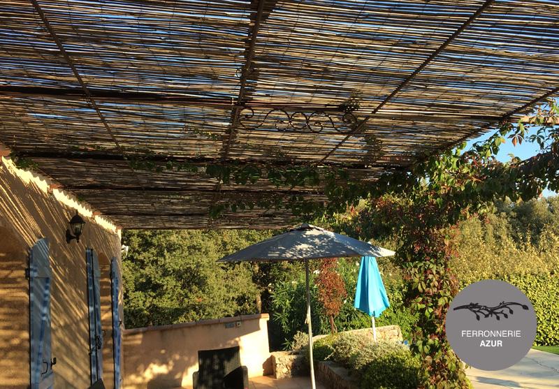 Fabrication d'une tonnelle en fer forgé à Sainte Maxime occasion