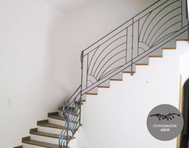 Fabrication d'une rampe pour escalier en fer plein à Sainte Maxime occasion