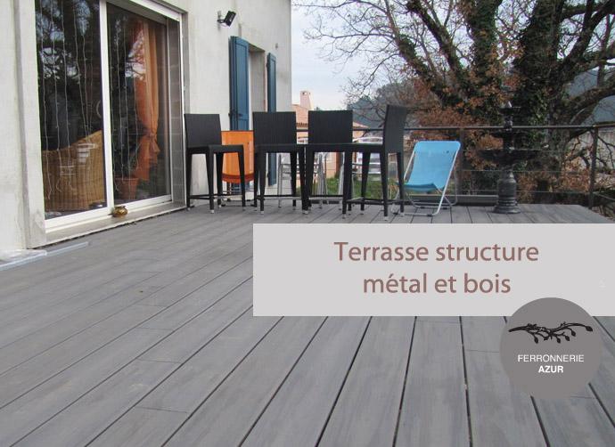 Structure métal pour terrasse sur pilotis à Saint Tropez occasion