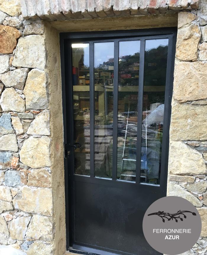 Porte en fer et verre style Atelier à Cannes dans les Alpes Maritimes occasion