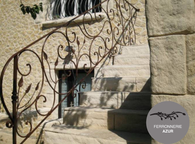 Rambarde et garde corps en fer pour escalier à Bormes Les Mimosas occasion