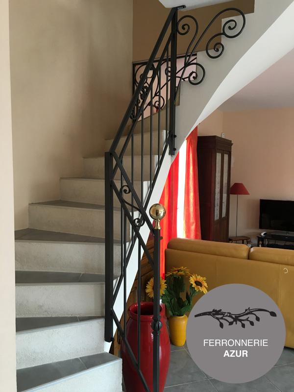 Fabrication d'une rampe d'escalier sur mesure à Nice occasion