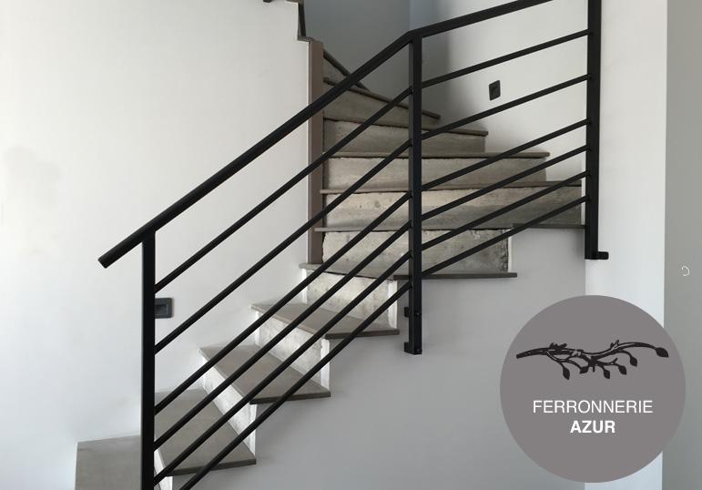 Rampe pour escalier moderne en metal à Grasse Alpes Maritimes 06 occasion