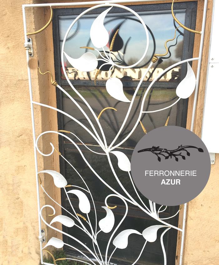 Grille de sécurité en fer forgé décor végétal à Nice 06 occasion