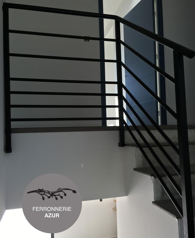 Rampe escalier et garde corps metal fer ferronnerie nice 06 - Escalier metal occasion ...