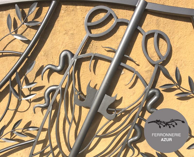 Portail en fer forgé fabrication mesure décor provence Nice occasion