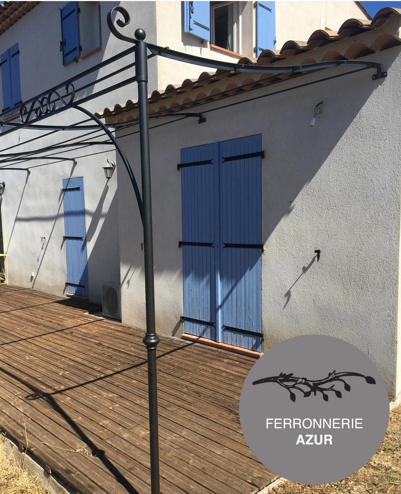 Pergola provençale en fer forgé à Nice Alpes Maritimes occasion