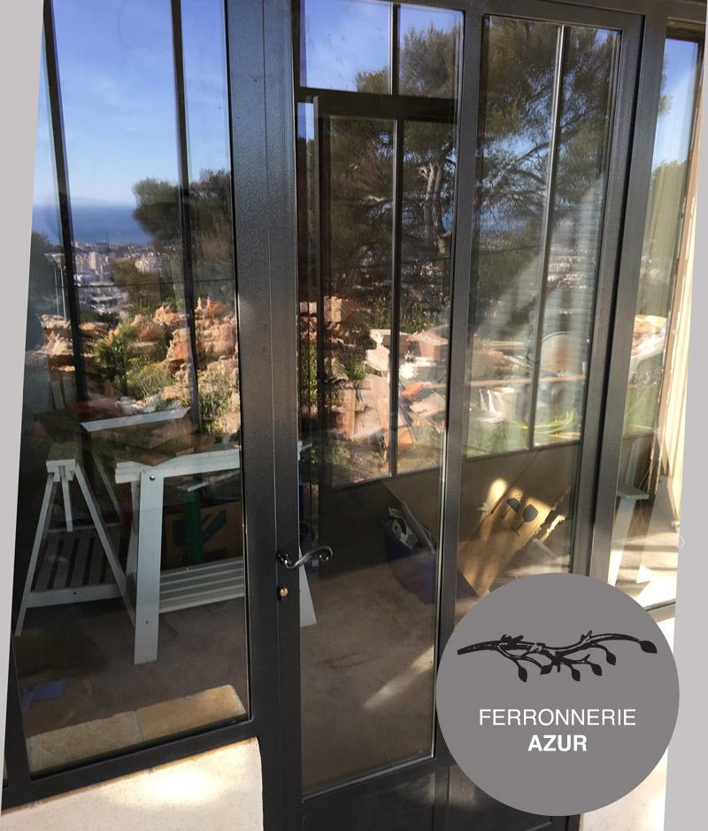 Porte d'entrée et baie vitrée style atelier d'artiste Nice 06 occasion