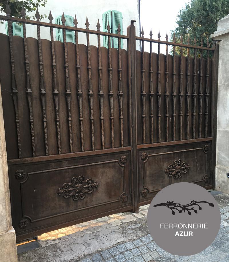 Portail et portillon en fer forgé à Nice 06 occasion