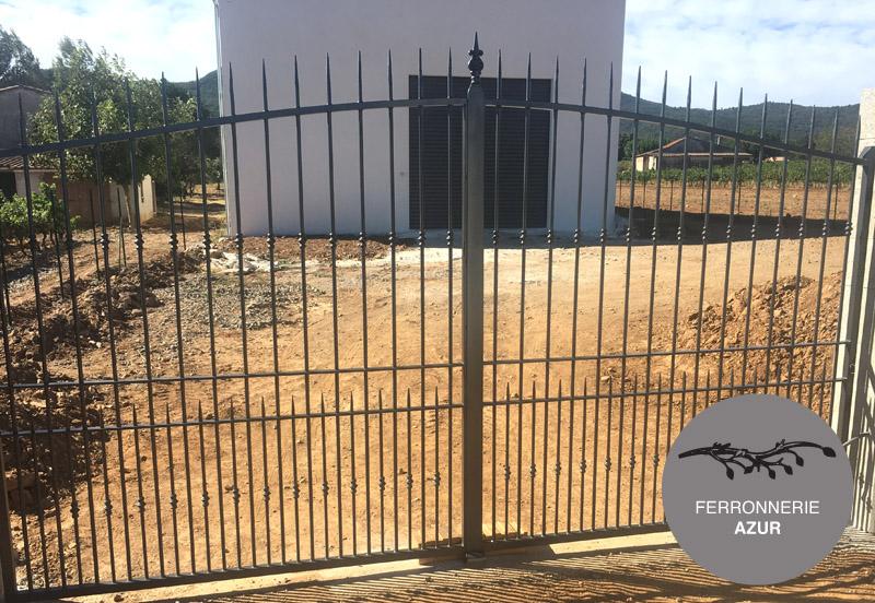 Fabrication d'un portail grille en fer forgé à Grasse 06 occasion