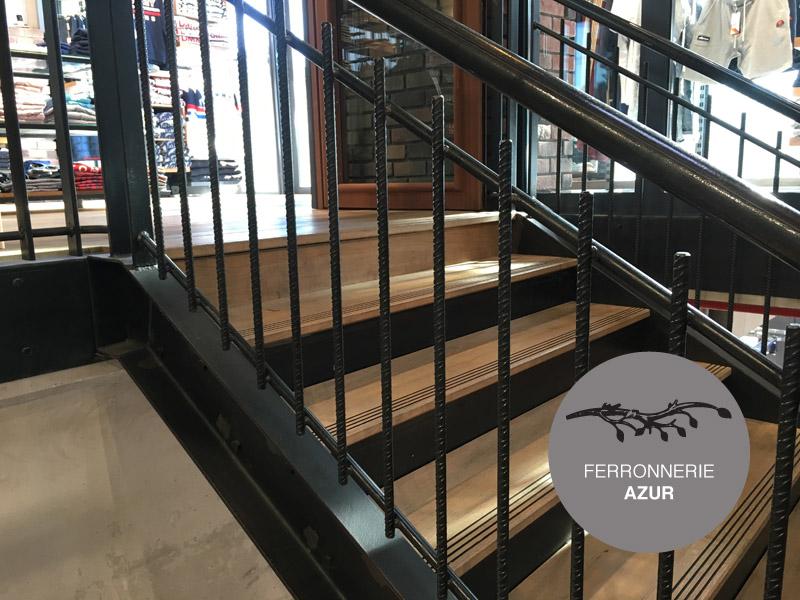 rampe escalier garde corps fer industriel boutique nice 06. Black Bedroom Furniture Sets. Home Design Ideas