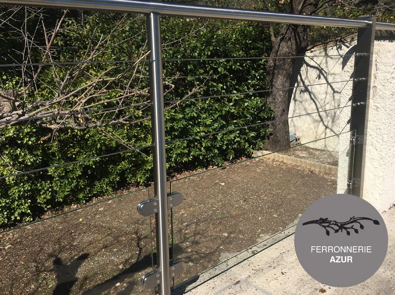 Garde corps en inox pour sécurité terrasse à Grasse 06 occasion