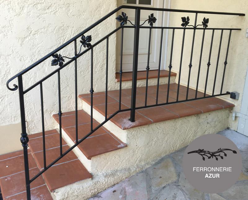 Rampe d'escalier en fer forgé pour escalier extérieur à Nice 06 occasion