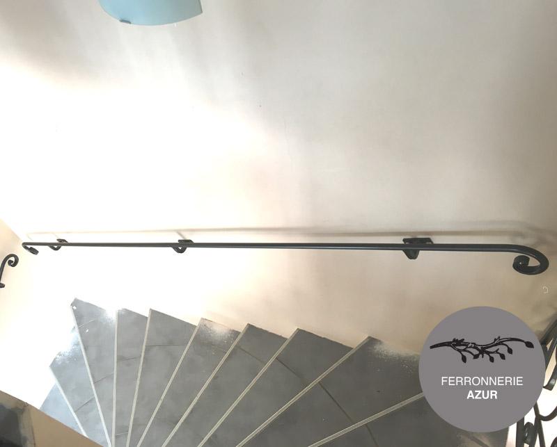 Rampe escalier ou main courante en fer plein à Cannes 06 occasion