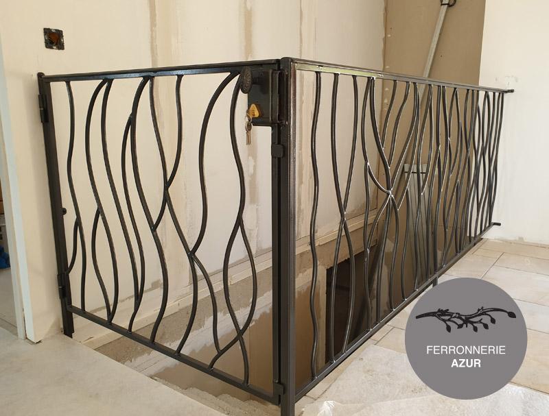 Fabrication et installation garde corps Art Deco pour cage d'escalier à Monaco occasion