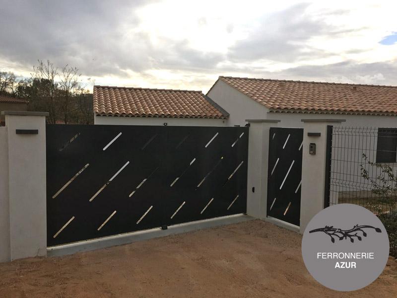 Installation d'un portail électrique en métal fer Grasse Alpes Maritimes 06 occasion