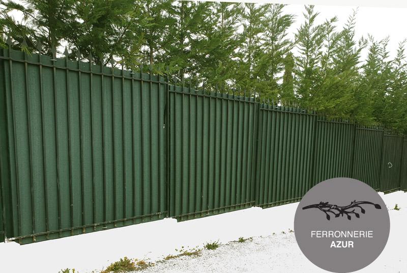 Grille de clôture en métal fer plein à Vence 06 occasion