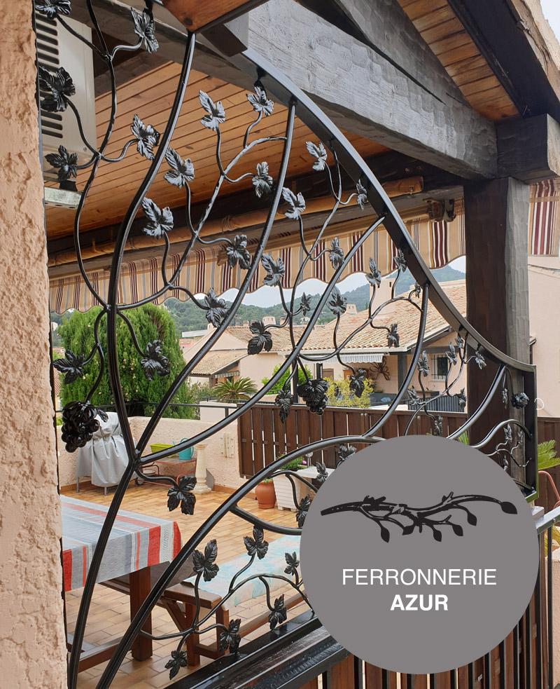Pare vue en fer forgé à Grasse Alpes Maritimes paca occasion
